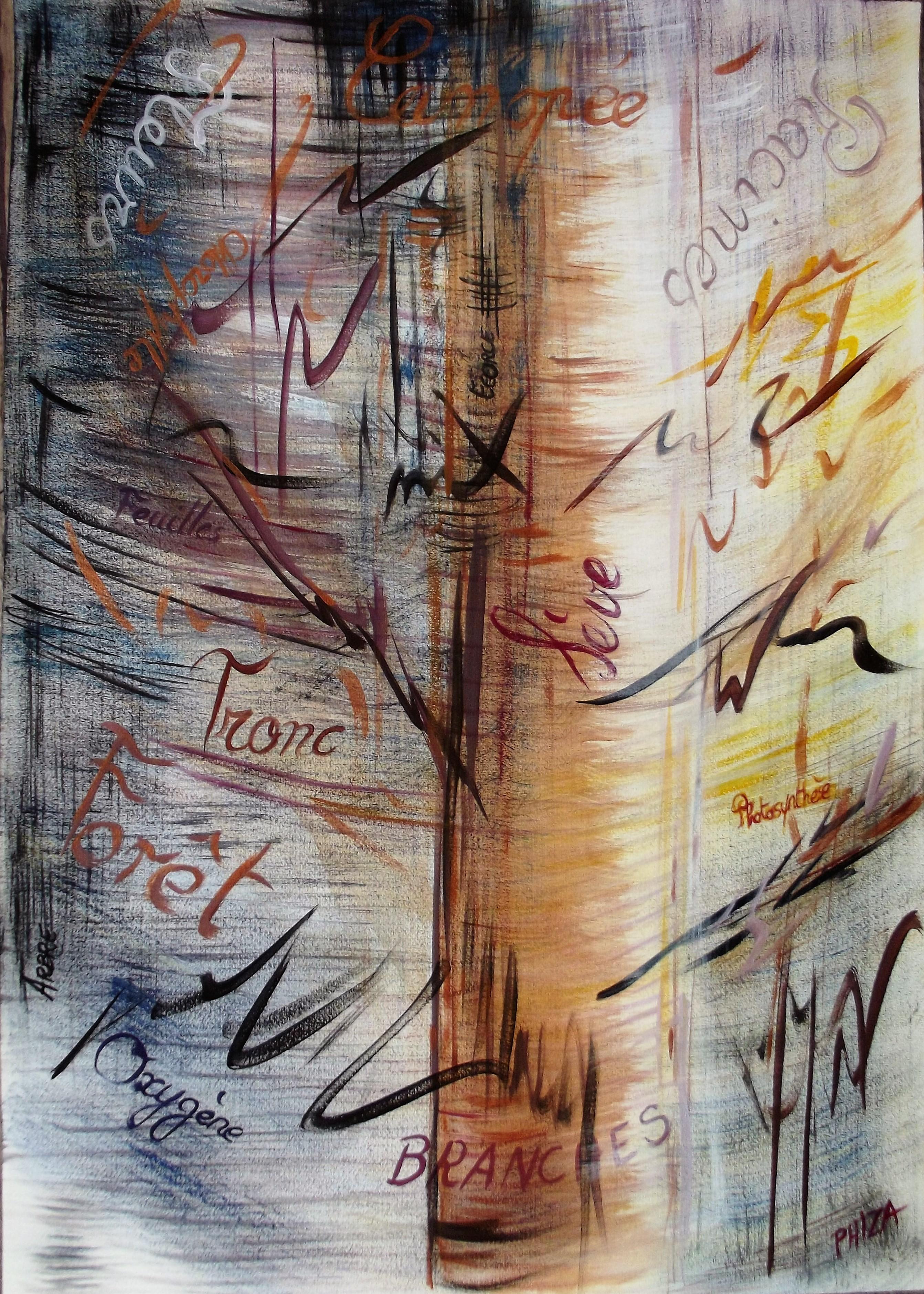 Envie d'arbre (42 x 59cm) acrylique 2014