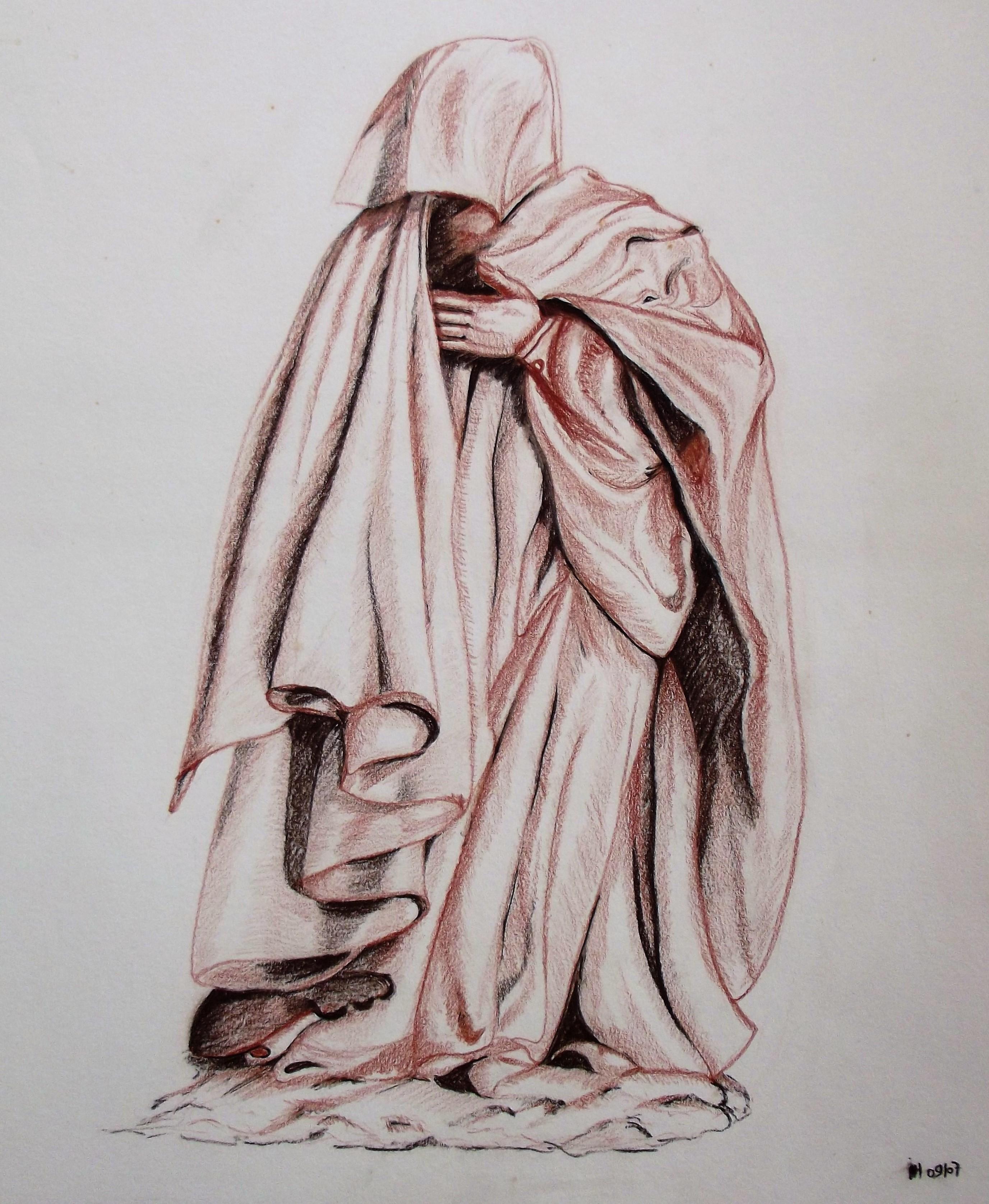 Pleurant 2 (38 x 45 cm) fusain/sanguine 2009